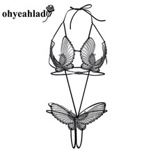 Ohyeahlady Butterfly Black Exotic Apparel Ensemble Sexy Deli