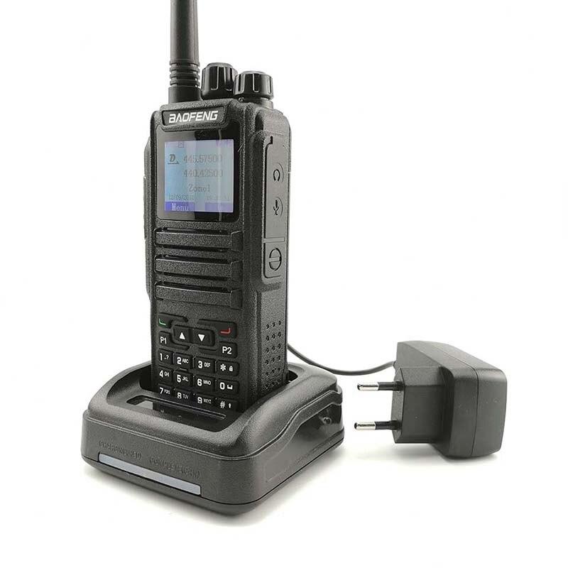 band digital 2pcs Baofeng DM-1701 Digital Analog Walkie Talkie Dual Band Dual Time Slot DMR Radio Station Radio Comunicador Profiss Uniden (4)