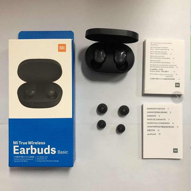 Xiaomi Airdots Redmi Airdots TWS Wireless Earphone Voice Control Bluetooth 5.0 Noise Reduction Tap Control