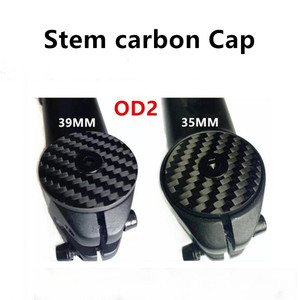 Carbon headset top cap Bike Stem carbon Cap with Ti Screw For OD2 31.8mm Steerer Fork Tube Cap Headset Cap Cover