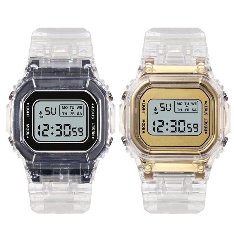 Men's Business Electronic Watch Simple Luxury Silicone Buckle Sport Men Watch Women Relogio Masculino Digital Clock Reloj Hombre(China)