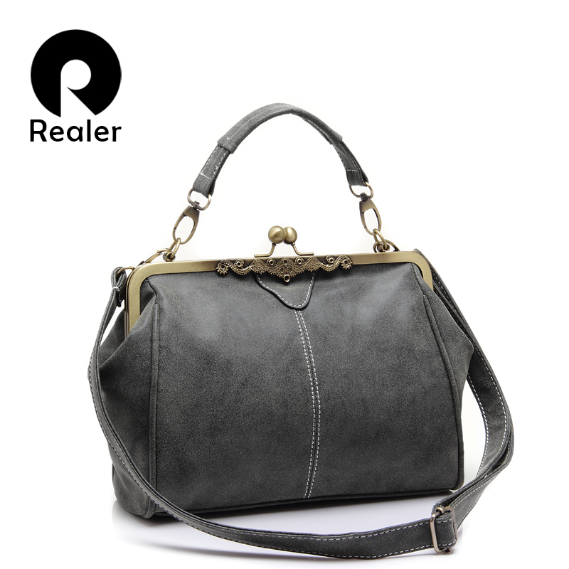 REALER Crossbody Bags For Women Shoulder Messenger Bag Small Tote Bag Lady Chain Messenger Bags Clutch PU Leather Handbags
