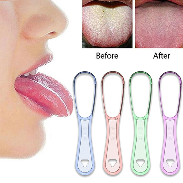 1pcs  Tongue Brush Cleaning The Surface of Tongue Oral Cleaning Brushes Tongue Scraper Cleaner Fresh Breath Health 2