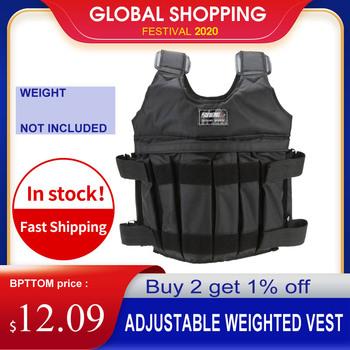20kg 50kg regulowana kamizelka treningowa trening treningowy kurtka do ćwiczeń siłownia trening bokserski kamizelka sprzęt do ćwiczeń tanie i dobre opinie CN (pochodzenie) Other Weighted Vest