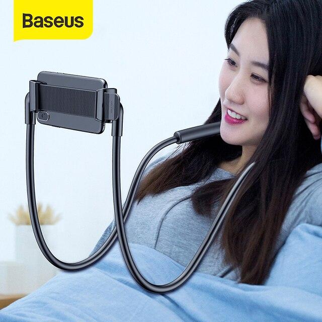 Baseus كسول الرقبة حامل الهاتف حامل آيفون شاومي اللوحي العالمي حامل هاتف المحمول مرنة الهاتف الذكي دعم قوس
