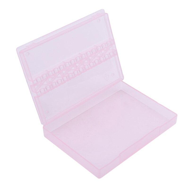 Сверла для дизайна ногтей, коробка для хранения, держатель, высокое качество, подставка для дисплея, контейнер, прямоугольная пластиковая