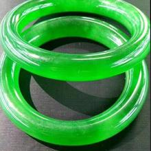 Сертифицированный(класс а) натуральный зеленый жадеит нефритовый браслет