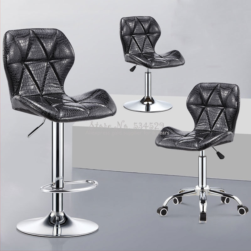 10%Bar Chair Lift Chair Modern Minimalist Home Rotating Bar Chair High Stool Front Desk Cash Register Chair Back Stool