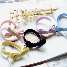 Sitaicery 1 PC Beautiful Bow Elastic Scrunchy Hair Bands For Women Kids Toys Handmade Headband Scrunchie Girls Accessories
