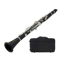 ABS 17 ключ кларнет BB плоский сопрано бинокулярный кларнет с чистящей тканью перчатки отвертка Рид Чехол духовой инструмент