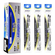 Baoke gel caneta reenchimento de tinta neutra economia e prático boa qualidade preto azul e vermelho 0.5/0.7/1.0mm nib material escolar de escritório