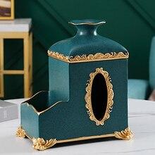 Multi-function tissue box napkin tray home living room coffee table tray mobile phone remote control storage box