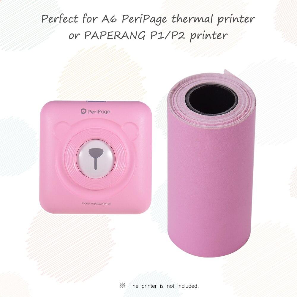 Цветная наклейка рулон бумаги с самоклеющейся 57*30 мм(2,17* 1.18in) для PeriPage A6 карманный Термопринтер для бумаги ANG P1/P2