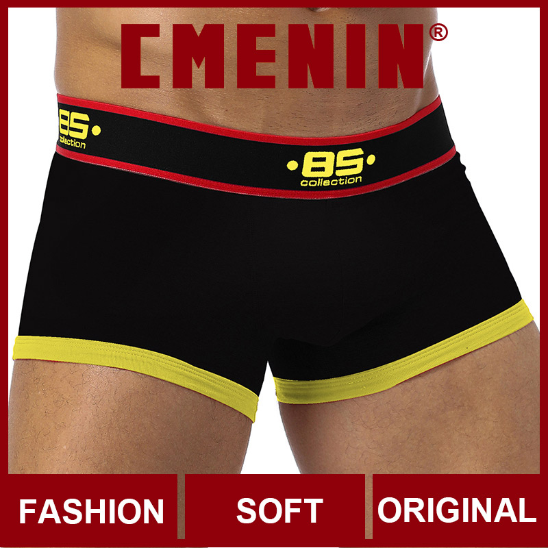 Lingeries CMENIN Cotton Letter Breathable Sexy Men Underwear Boxer Shorts Popular Men's Underwear Mens Boxershorts Underware