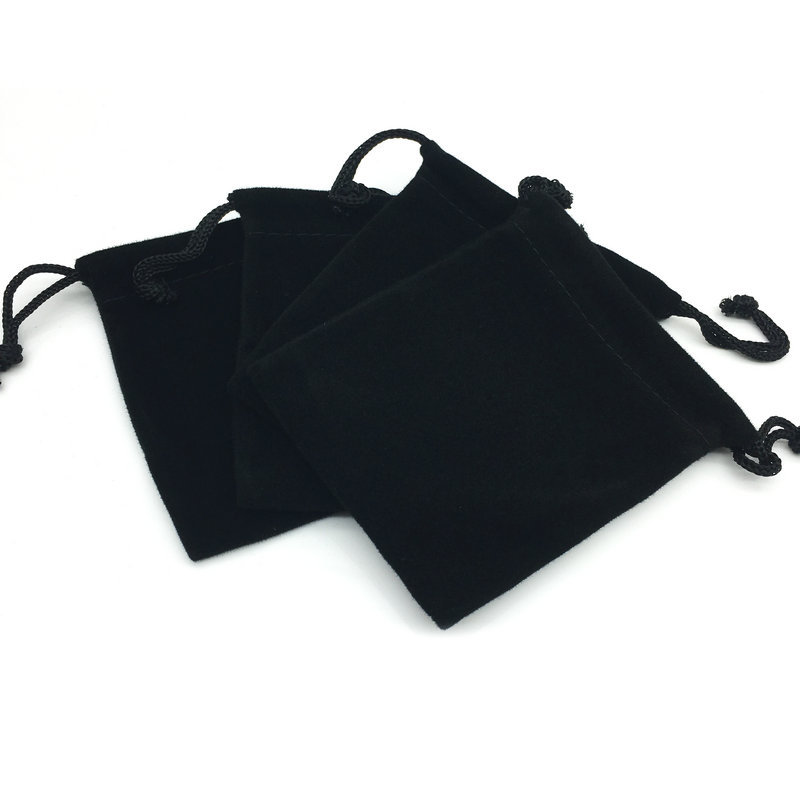 Thick Variety Size Black And White With Pattern Drawstring Top Flannelette Bag Jewelry Bag Mobile Phone Bag Gift Bag B- 036