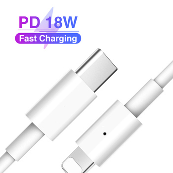 18W PD Fast Charging USB Type c Type-C to For Lightning Cable for iPhone 8 X XS XR 11 Pro Max 8plus 11pro 2A Charge Data line mcdodo 18w pd quick charging cable for iphone xs max xr x 8 plus ipad type c to for lightning data cable usb c ios charger cable