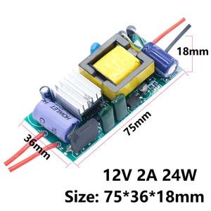 Image 4 - LED נהג 220V כדי 12V 24V אורות 6W 12W 24W 36W 60W 84W 100W 120W עבור LED ספק כוח 12V אור רובוטריקים עבור מעבד מאוורר