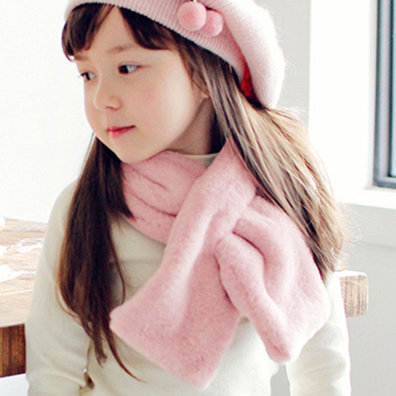 Sparsil Children Winter Imitate Rabbit Scarf Fashion Girls&Boys Cute Warming False  Collar Neck Ribbon Scarves Kids