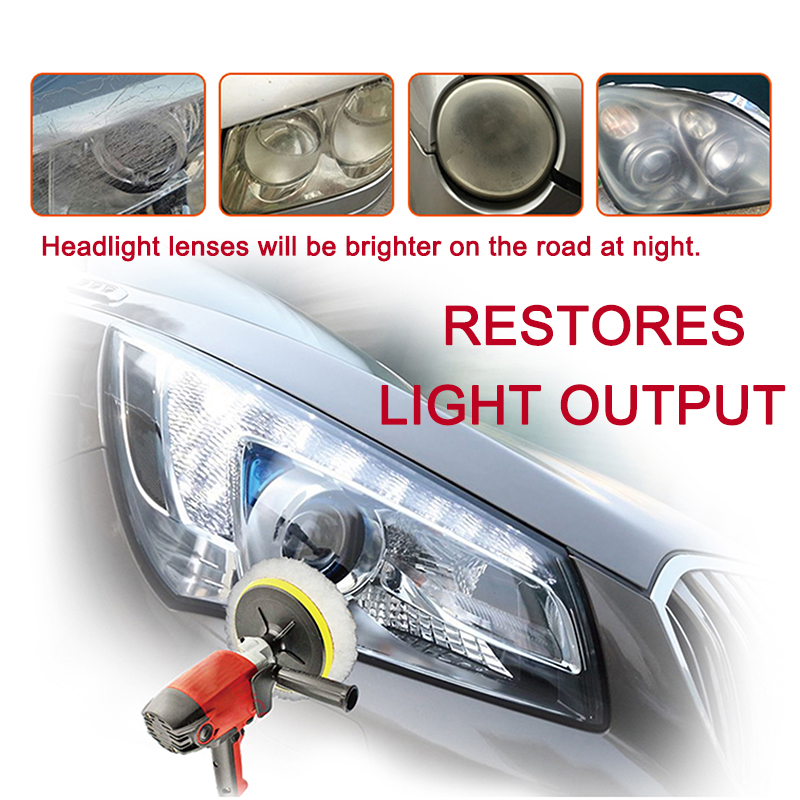 Image 3 - LuDuo Headlight Polish Restoration Kits Car Headlamp Polishing Cleaner Paste Care Wash Brightener Repair Paint Care with Cloth-in Polishing & Grinding Materials Set from Automobiles & Motorcycles