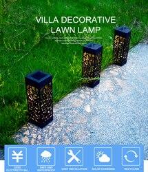 Zewnętrzna wodoodporna lampa słoneczna piękna pusta trawnik lekka kreatywna sterownik światła led indukcyjne światło ogrodowe w Lampy LED na trawnik od Lampy i oświetlenie na