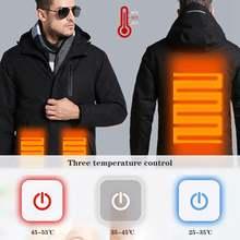 Мужские и женские зимние толстые хлопковые куртки с usb подогревом