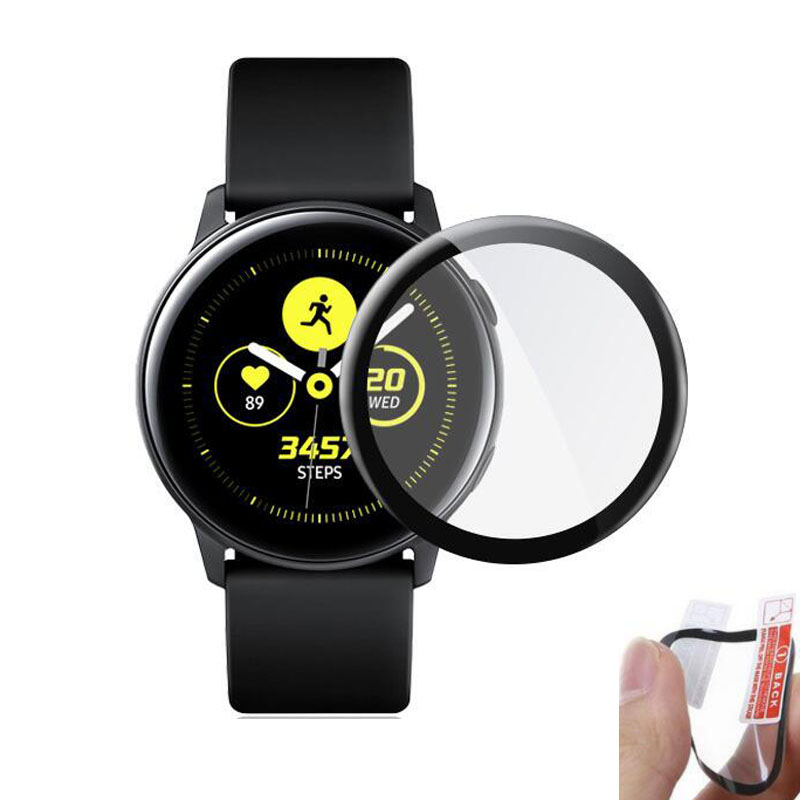 3D Curved Soft Full Edge Cover Protective Film For Samsung Galaxy Watch Active 2 40mm 44mm Active2 Screen Protector (Not Glass)