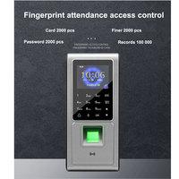 Biometrische Vingerafdruk Toegangscontrole Tijdregistratie Tcp/Ip Communicatie Ondersteuning Rfid Id kaart 125 K  Sn: F6 op