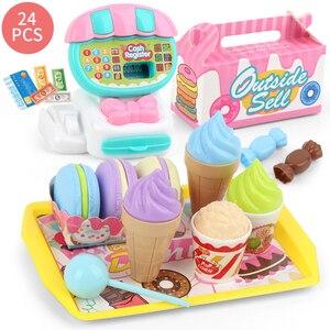 Image 1 - Simülasyon yazarkasa öğretim eğitim Mini süpermarket çocuklar ABS oyuncak seti ev öğrenme oyun evi çocuk