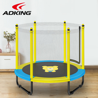 ADKING 59Inch Trampoline With  Net For Child , Foldable Design, Indoor&Outdoor Exercise,Jumping Bed for kids,Children' Toy