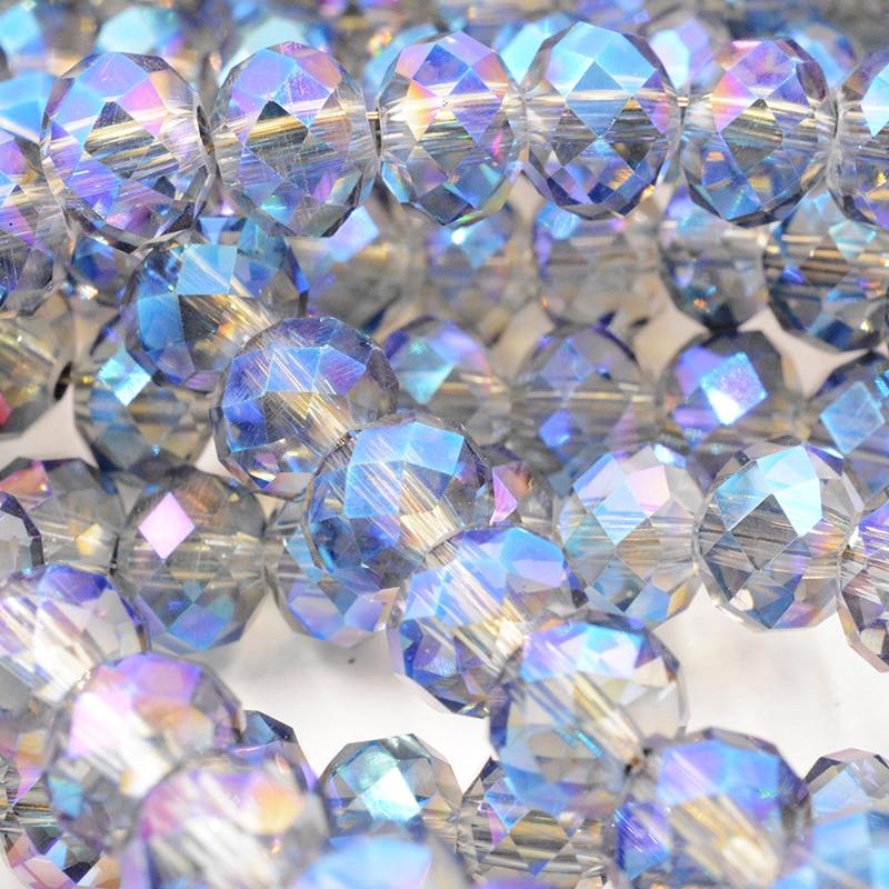 Новинка! 4 мм 140 шт./лот бусины-разделители ограненные стеклянные бусины модные украшения - Цвет: 123