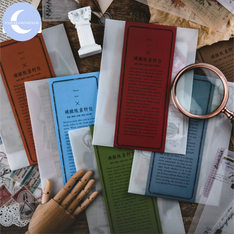 YueGuangXia Reactionist Material Scrapbooking/Card Making/Journaling Project Junk Kraft Retro Writing Paper Cards 6Designs 87pcs