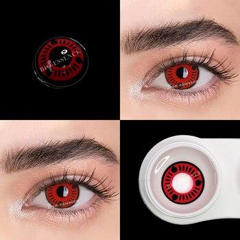 1pair(2pcs) 1 Year Cosplay Sharingan Contact Lenses for Eyes Colored Red Uchiha Sasuke Hatake Kakashi Anime Accessories - 3