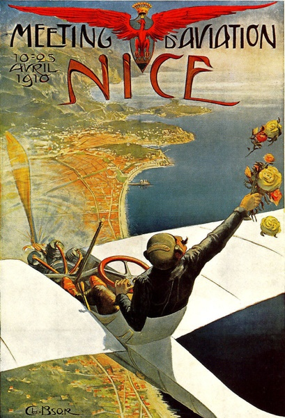 1910 French European Travel Nice France Large Metal Tin Sign Poster Wall Plaque Custom Sign Anime Poster Decorations for Room