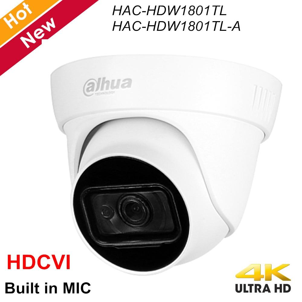 Dahua Lite Plus Series 4K HDCVI Camera HAC-HDW1801TL HAC-HDW1801TL-A Built In MIC Waterproof IP67 2.8mm 3.6mm Coaxial Camera