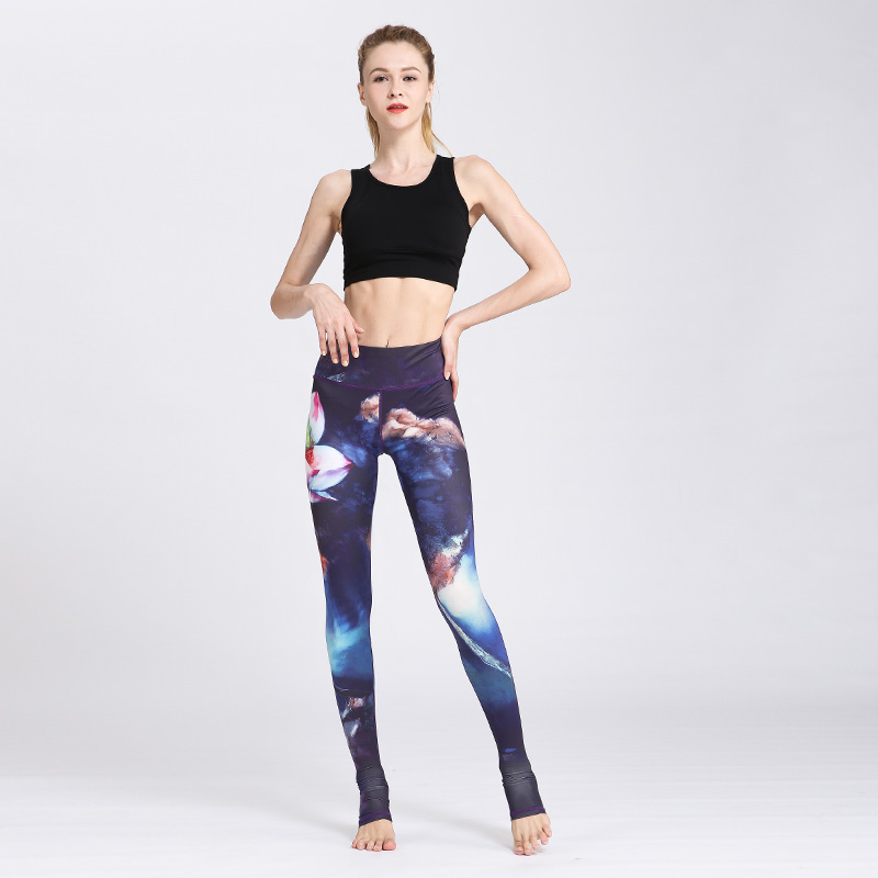 New Water Lily 3D Printed Push Up Tights Fitness Women Jogging GYM Yoga Pants Femme Sport Leggings Sport Tights Yoga Sportswear Pakistan