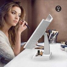 Светодиодный три складное зеркало для макияжа Таймс усилитель высшего класса сильный текстурированный Европа и Америка комод deng jing zi завод OEM