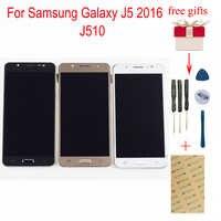 Pour Samsung Galaxy J5 2016 LCD SM-J510F J510G J510Y J510M J510 J510FN LCD écran tactile numériseur assemblée avec cadre