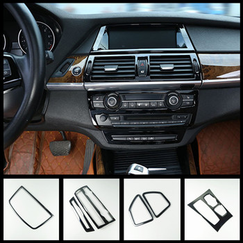 Car Styling Console Gear Shift Frame CD Panel Cover Trim For BMW X5 E70 X6 E71 Interior Door Armrest Strips Air Vent Sticker image