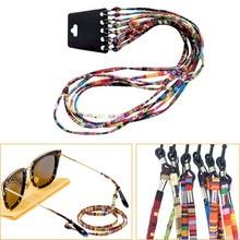 5Pcs Colorful Cotton Blend Sunglasses Strap Eyeglass Chain Reading Glasses Chain String Holder Neck
