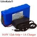 LiitoKala 14 8 V 12Ah 4s6p 18650 li-литий-ионный аккумулятор в упаковке ночник для рыбалки обогреватель шахтерский усилитель батареи с BMS + 16 8 V зарядное уст...