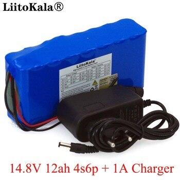 LiitoKala 14,8 V 12Ah 4s6p 18650 li-литий-ионный аккумулятор в упаковке ночник для рыбалки обогреватель шахтерский усилитель батареи с BMS + 16,8 V зарядное уст...