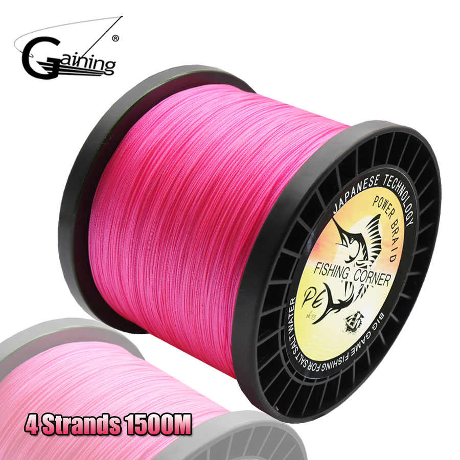 4 Strands Braided Fishing Line 1500M Multifilament PE Line Fishing Braid Line 8-140LB Stream Fishing