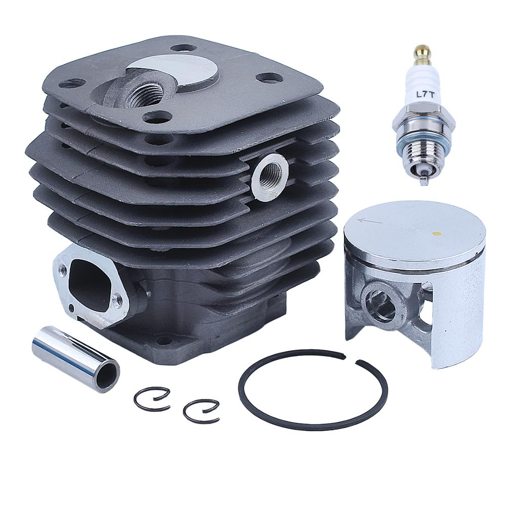 Tools : 48mm Cylinder Piston Kit For Husqvarna 262xp 261 262 Gas Chainsaw Spare Parts 503541171 w Spark Plug
