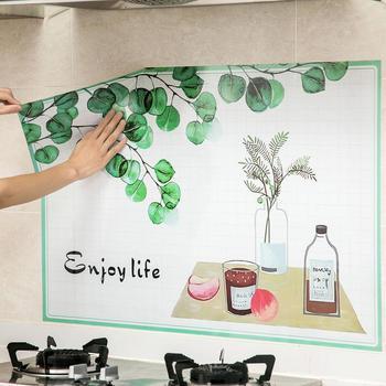 1 unidad pegatina de aceite para cocina armario de cocina impermeable papel pintado azulejos de cerámica de alta temperatura antiincrustante pegatina de pared
