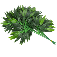 20pcs Ivy Leaf Foliage Plant Artificial Leaves Vine Bamboo Leaf Home Decors