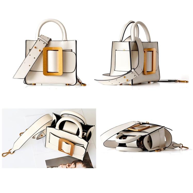 Burminsa mini couro genuíno mulheres messenger bags