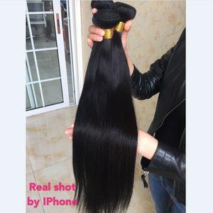 """Image 5 - Aliafee włosy peruwiańskie proste włosy wyplata 3/4 oferty pasma prostych włosów 8 """" 30"""" ludzki włos do przedłużania włosów Remy Natural Color"""