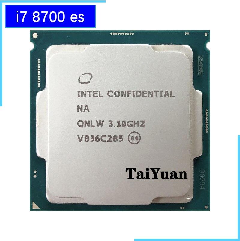 Процессор Intel Core, процессор es i7 8700 es i7 8700es QNLW 3,1 ГГц, шесть ядер, двенадцать потоков, L2 = 1,5 м, L3 = 12 м, 65 Вт, LGA 1151|Процессоры|   | АлиЭкспресс