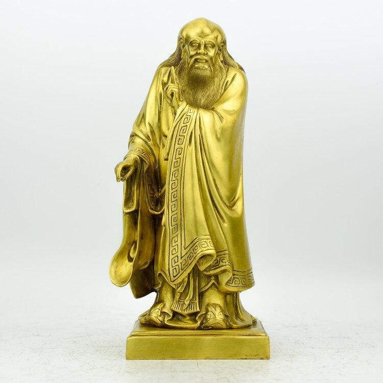 Statue Laozi Seiko cuivre pur Feng Shui Laozi Statue en Bronze artisanat décoration de la maison cadeaux Bronze Feng Shui ornements