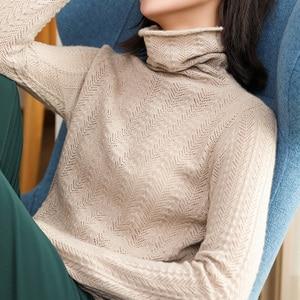 Image 4 - 100% קשמיר סוודרים סרוגים נשים למעלה איכות גולף 4 צבעים גבירותיי סוודרי החורף חדש אופנה סטנדרטי בגדים